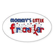 Mommy's Little Firecracker Oval Decal