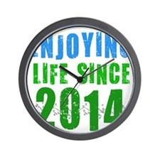 Enjoying life since 2014 Wall Clock
