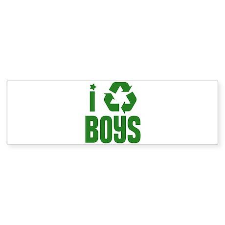 I RECYCLE Boys Bumper Sticker