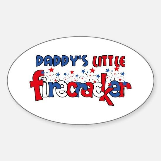 Daddy's Little Firecracker Oval Decal