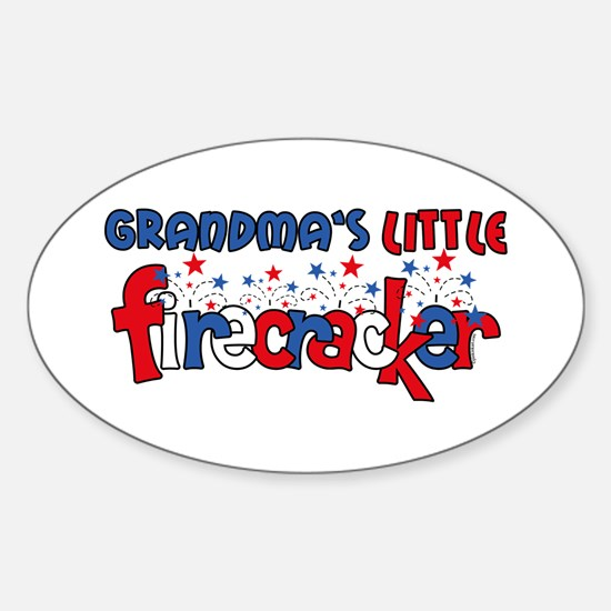 Grandma's Little Firecracker Oval Decal
