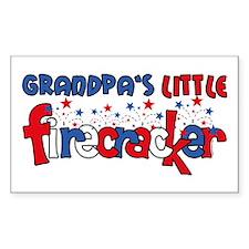 Grandpa's Little Firecracker Rectangle Decal