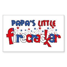 Papa's Little Firecracker Rectangle Decal