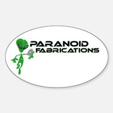 Paranoid Fabrications Oval Decal