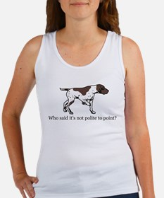 Who Said it's Not Polite to P Women's Tank Top