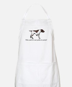 Who Said it's Not Polite to P BBQ Apron
