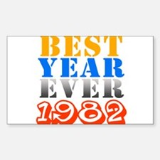 Best year ever 1982 Rectangle Decal