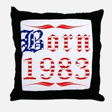 Born All American 1983 Throw Pillow