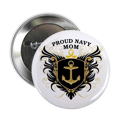 "Proud Navy Mom 2.25"" Button"