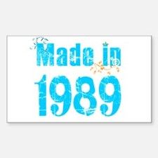 Fresh Blue Made in 1989 Rectangle Decal