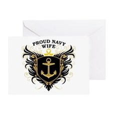 Proud Navy Wife Greeting Card