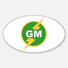 GM Groomsman Oval Decal