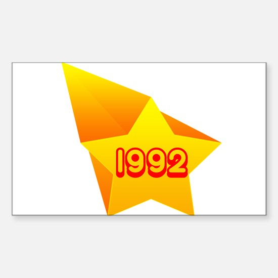 All Star 1992 Rectangle Decal