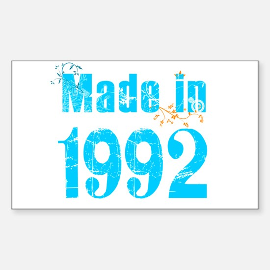Made in 1992 Rectangle Decal