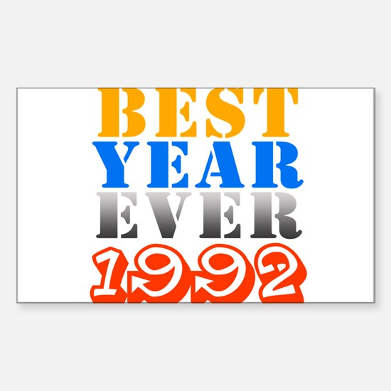 Best Year Ever 1992 Rectangle Decal