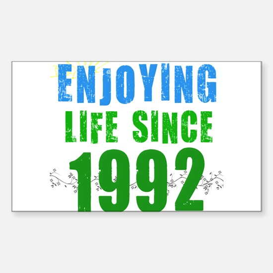 Enjoying Life Since 1992 Rectangle Decal