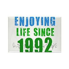 Enjoying Life Since 1992 Rectangle Magnet