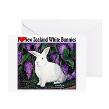 New Zealand White Bunnies Greeting Cards (Pk of 20