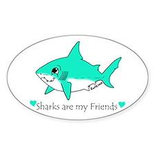 Shark Friend Oval Decal