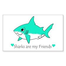 Shark Friend Rectangle Decal