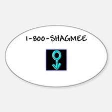 Men's Shag Me Oval Decal