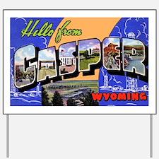 Casper Wyoming Greetings Yard Sign