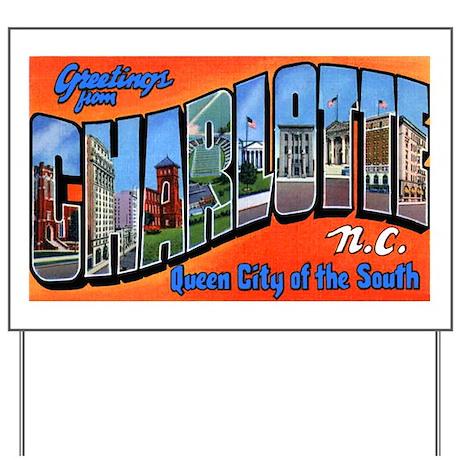 Charlotte North Carolina Gree Yard Sign