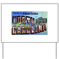 Charlotte North Carolina Gree Yard Sign