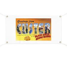 Custer South Dakota Greetings Banner