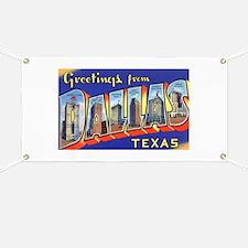 Dallas Texas Greetings Banner