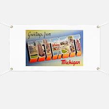 Detroit Michigan Greetings Banner