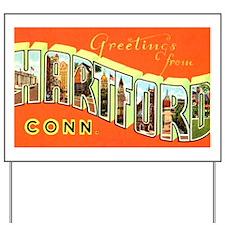 Hartford Connecticut Greeting Yard Sign