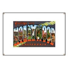 Hollywood California Greeting Banner