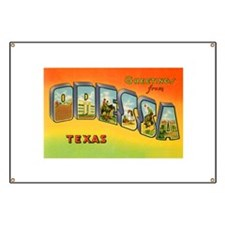 Odessa Texas Greetings Banner