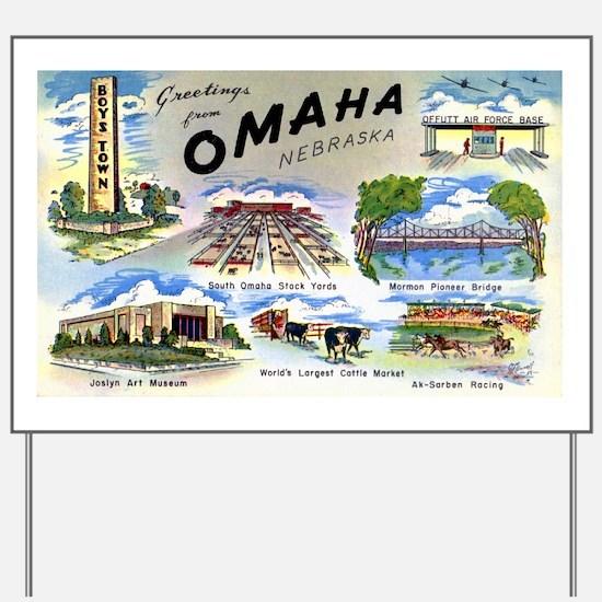Omaha Nebraska Yard Sign