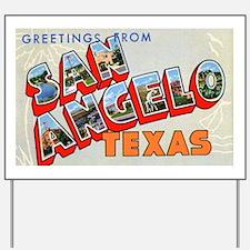 San Angelo Texas Greetings Yard Sign