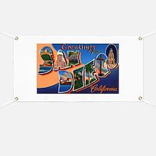 San Diego California Greeting Banner