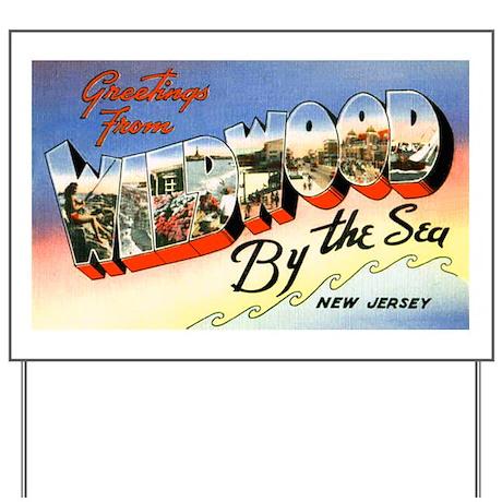 Wildwood New Jersey Greetings Yard Sign