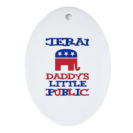 Kieran - Daddy's Republican Oval Ornament