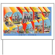 Coney Island New York Yard Sign