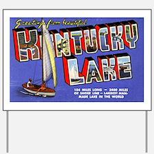 Kentucky Lake Greetings Yard Sign