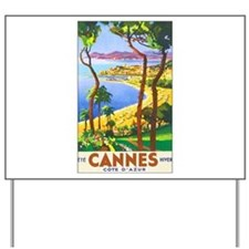 Cannes France Yard Sign
