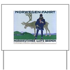 Norway Travel Yard Sign