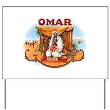 Omar Arabian Cigar Label Yard Sign