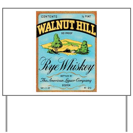 Whiskey Label Yard Sign