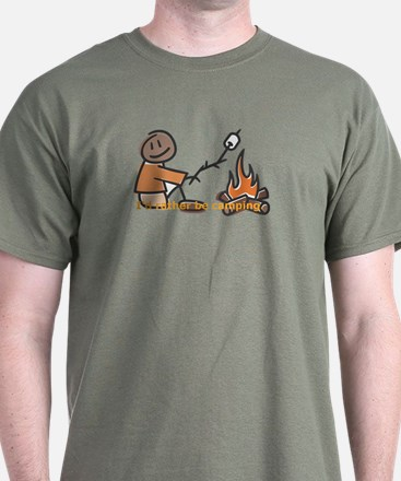 Campfire Rather be camping T-Shirt