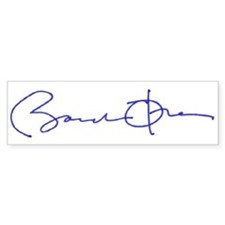 Obama signature series Bumper Bumper Sticker