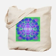 Pink & Blue Abstract Tote Bag