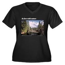 Love Yosemite Women's Plus Size V-Neck Dark T-Shir