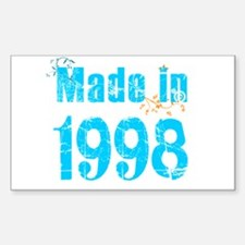 Made in 1998 Rectangle Decal